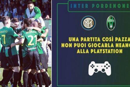 Inter-Pordenone di Coppa Italia: l'ironia social dei friulani da 'mai in B' alla Playstation