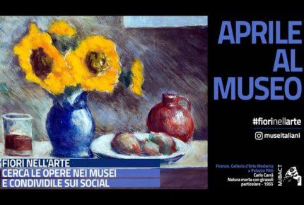 #fiorinellarte: la campagna social dei musei di aprile 2018