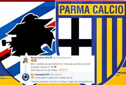 """Parma e Sampdoria organizzano una partita amichevole su twitter: """"Ci vediamo? Chi prenota il campo?"""""""