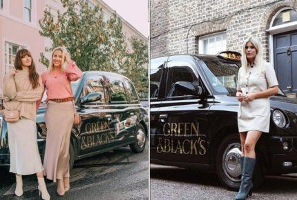 Green & Black's offre corse gratuite in taxi a Londra e cioccolatini in cambio di un selfie su Instagram