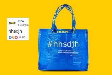 #hhsdjh: errore o esperimento social? Dall'assurdo post di Ikea su Facebook è nata una borsa shopper
