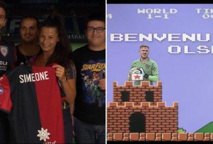Calciomercato Cagliari: Simeone presentato con una diretta Faceobok dai tifosi e Olsen su twitter in versione Super Mario Bros