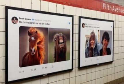Come siamo su Twitter e come siamo su Instagram, Linkedin e Facebook: la campagna di Twitter a New York e San Francisco
