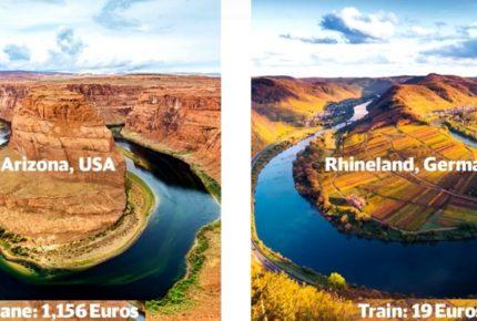 No Need to Fly: la geniale e ironica campagna social della Deutsche Bahn che promuove il turismo in Germania in treno