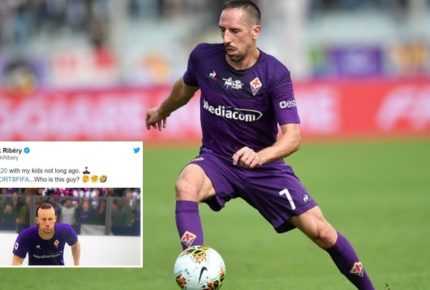 """Ribery della Fiorentina non si riconosce e scrive a FIFA 20 su twitter: """"Ma questo chi è?"""". Ma arriva la risposta di PES 2020"""