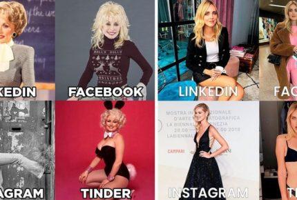 #DollyPartonChallenge: tra i vip spopola il trend social con le immagini per Linkedin, Facebook, Instagram e Tinder