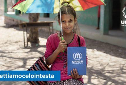 #mettiamocelointesta: la nuova campagna social dell'Unhcr per garantire l'istruzione ai bambini rifugiati nel mondo