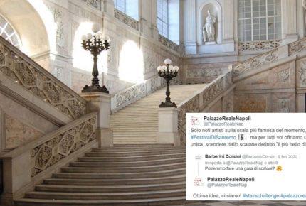 La #stairchallenge su twitter: spopola la sfida social dei musei italiani che celebrano le loro storiche scalinate