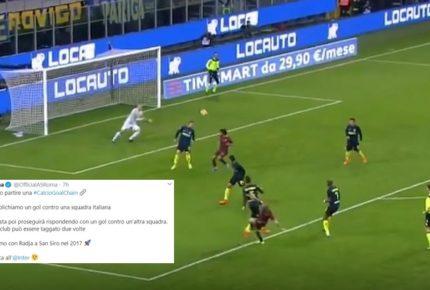 La Roma lancia la sfida #CalcioGoalChain su twitter: ogni squadra di calcio pubblica il video di un gol e ne tagga un'altra