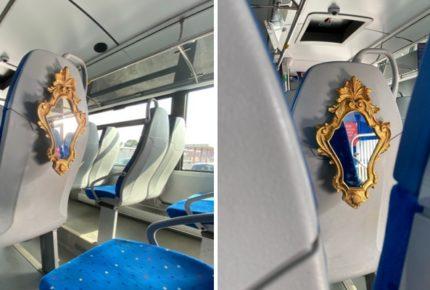 """Cotral lancia la campagna social per chi non indossa la mascherina a bordo: """"Posti riservati con specchio incluso"""""""