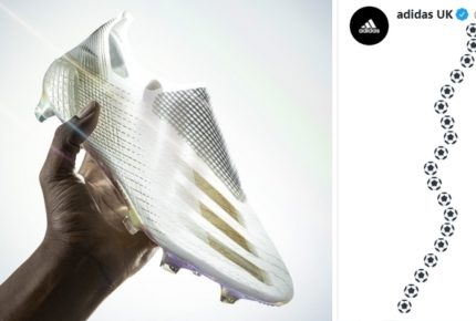Adidas lancia le scarpe da calcio X Ghosted con un originale thread di Twitter: una gara di velocità per scorrere 28 tweet